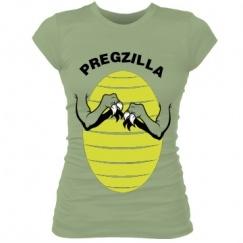 Outra camiseta legal para grávidas: Pregzilla (Grávida + Godzilla)